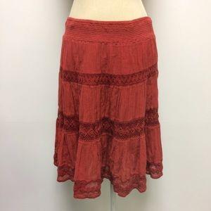 Anthropologie Edme & Esyllte Crochet Skirt EUC